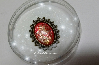 Le Cabochon Paillettes Rouges
