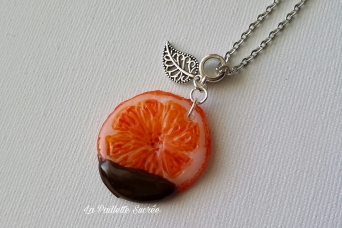 Le Collier Orange Chocolat